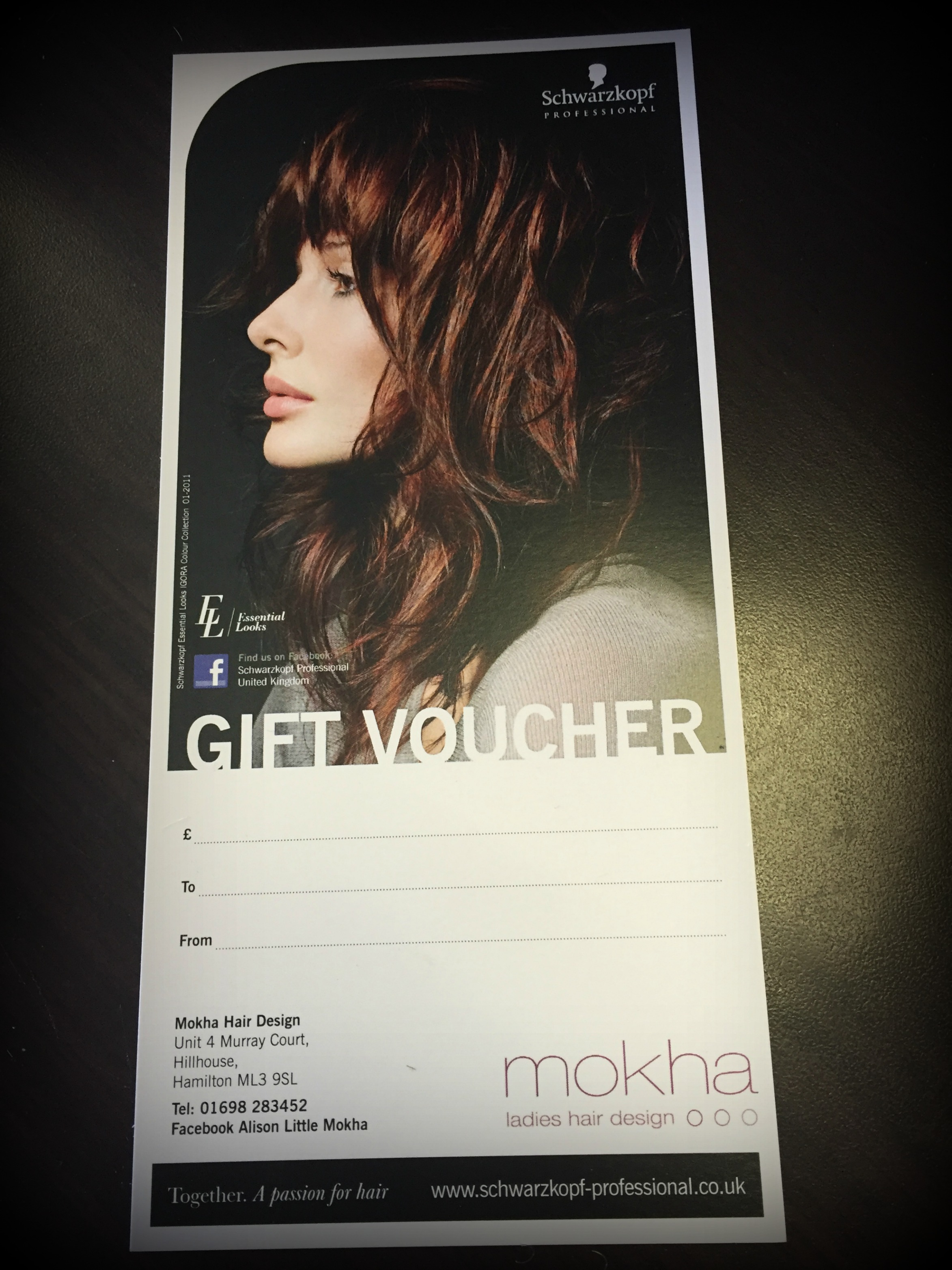 Mokha Gift Vouchers Mokha Ladies Hairdressers Hair Salon Hamilton